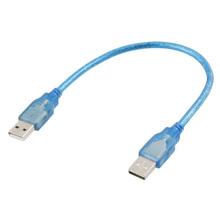 2015 Hot 30 cm 1 Pies USB 2.0 Tipo A/A Macho a Macho Cable de Extensión Azul