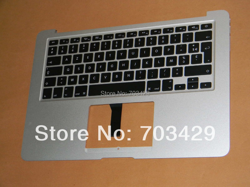Компьютерные аксессуары For Macbook Air 13 Macbook Air 13 A1466 Topcase MD760LL /, MD761LL/A Palmrest & Fr AZERTY A1466 2013 Year new for macbook air 13 a1466 2013 uk po fr gr de it sp ru eu layout topcase palmrest no keyboard no touchpad
