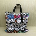New Fashion Women s Handbag Geometric Pattern color Totes bag Shoulder bag Same As BAOBAO LATTICE