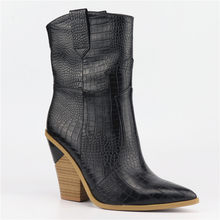 2019 Mới Thời Trang Giày Bốt Nữ Da Thật Giày Cao Gót Độn Người Phụ Nữ Da Bò Nữ Mắt Cá Chân Giày Zapatos mujer(China)