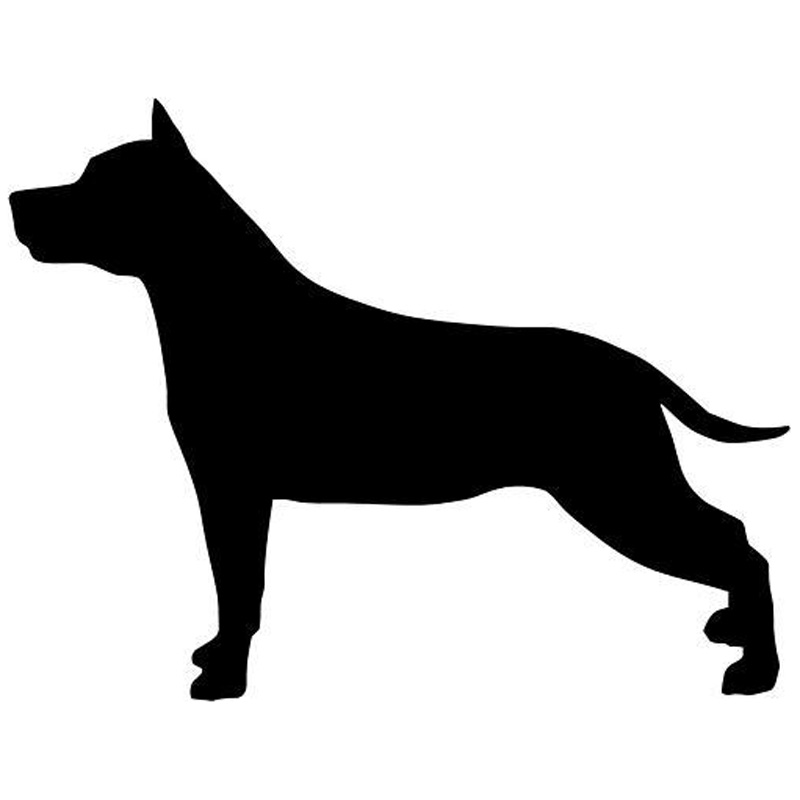 12.3*9.5CM Classic American Staffordshire Dog Animal Model Car Sticker Stylish Decorative Decals Motorcycle Accessories C6-0096(China (Mainland))