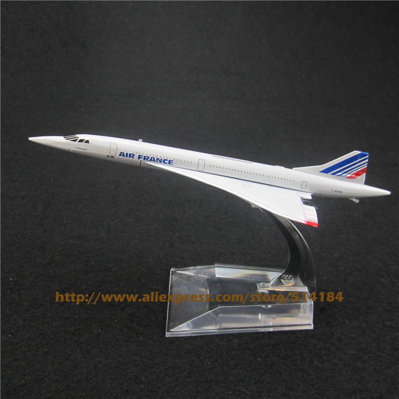 15.5cm Alloy Metal Air France Costa Concordia F-BVFB Airways Airlines Plane Model Airplane Model w Stand Aircraft Toy Gift(China (Mainland))