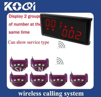 Hot sale Wireless Call System; Dispaly 2 groups of number at the same time ;Can show different service type ;DHL freeshipping