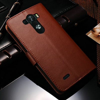 DHL Luxury Stand Book Style Retro Leather Case For LG Optimus G3 D850 D855 Phone Back Cover With 3 Card Slots 50 pcs/lot