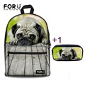 Cute Children School Bags Animal Bullbog Schoolbag for Teenager Boys Girls Cool High School Student Kids