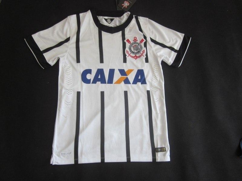 Brazilian league SC Corinthians Paulista Soccer Jersey 14 15 White Football Home GUERRERO LODEIRO camisas de futebol shirt(China (Mainland))