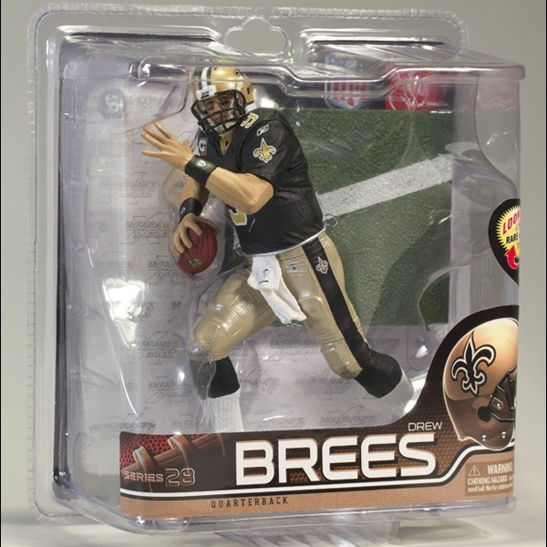 Animation Garage Kid Collection Kids Toys: McFarlane Action Figure PVC Dolls NFL Football Player Drew Brees Model Best Gifts(China (Mainland))