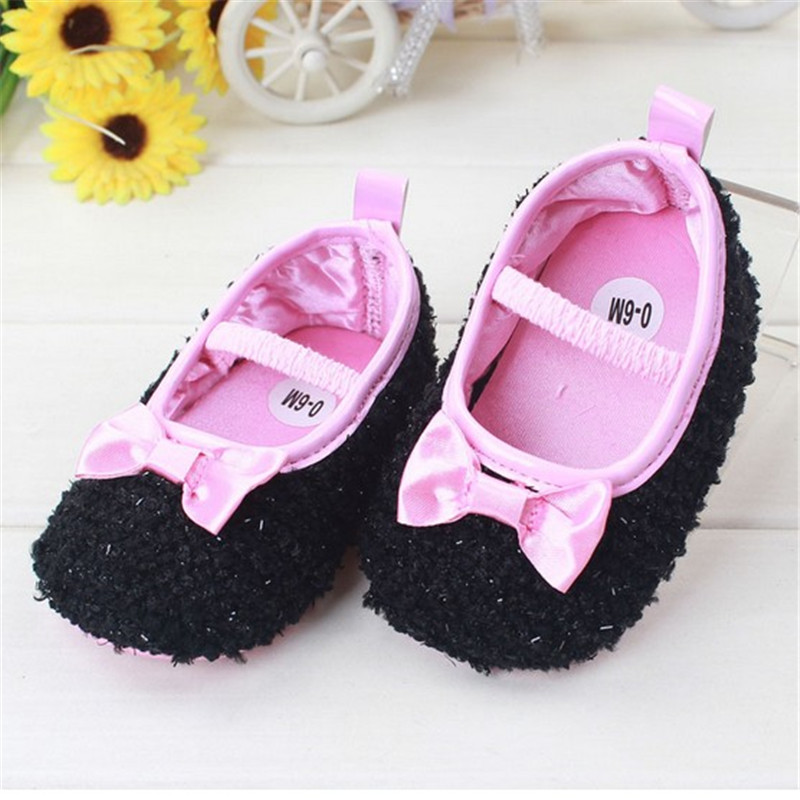 Cute Princess Bow Spring Autumn Baby Girls Shoes First Walkers Newborn Infant Bebe Crib Shoes Prewalkers Toddler Crochet Shoes(China (Mainland))
