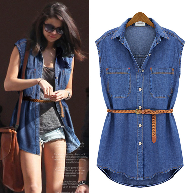 Popular  Dress Blue Denim Jeans Dress For Women Ladies Casual Party DressChina