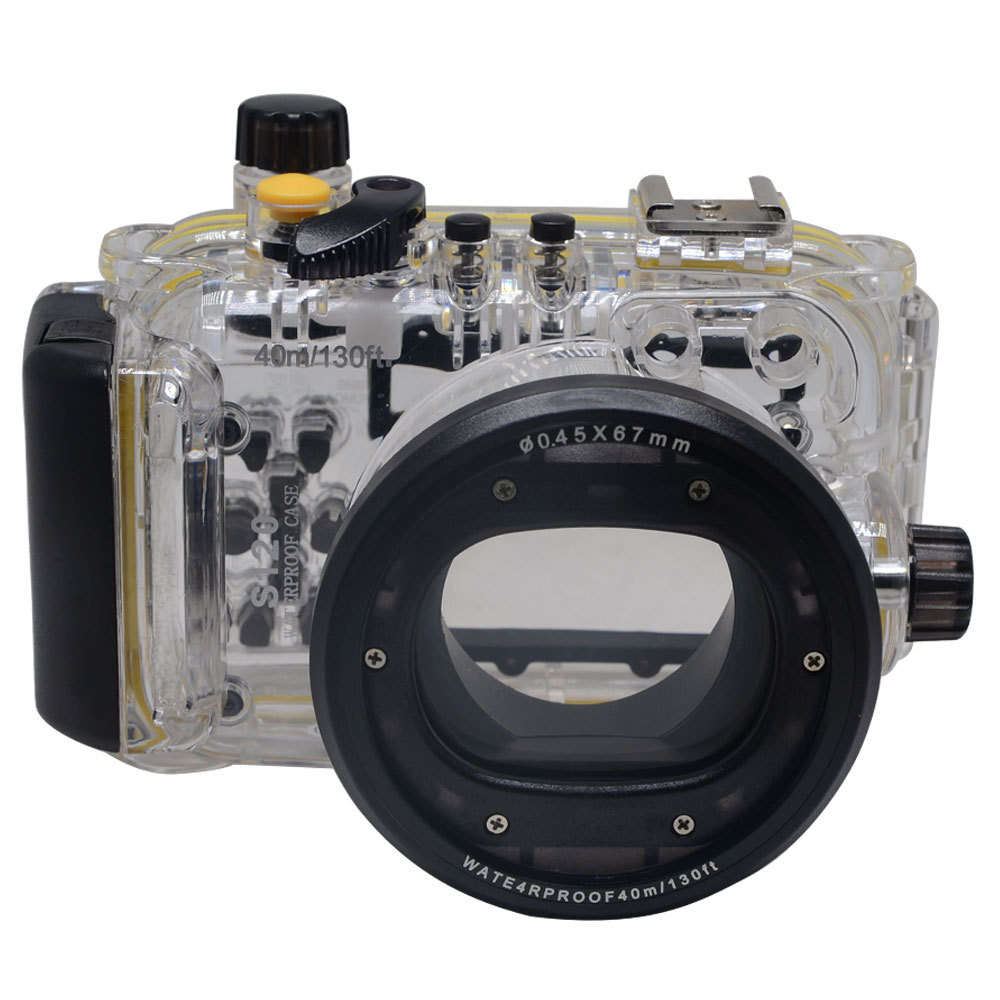 Mcoplus 40M 130ft Underwater Waterproof Housing Camera Case Bag for Canon Powershot S120 WP-DC51 Camera<br><br>Aliexpress