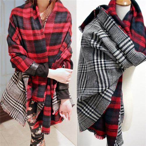 Бесплатная доставка ZA кашемировые шарф зимние шарфы ( 180 см * 55 см ) плед двусторонняя мягкий сталкиваются плед сгущать теплый плащ шаль шарфы