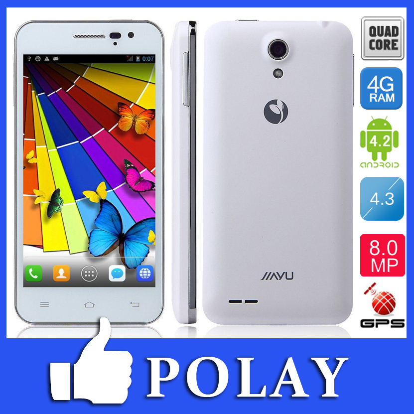 "Original JIAYU G2F MT6582 Quad Core 3G WCDMA Dual SIM 8MP Smart Phone Android 4.2 4. 3"" IPS Gorrila Screen Dual Camera+Gifts(China (Mainland))"
