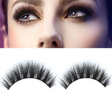 1 Pair 100% Real Mink Natural Thick False Fake Eyelashes Eye Lashes Makeup Extension Beauty Tools(China (Mainland))