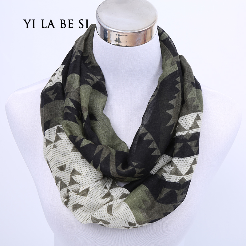 2016 New Female Geometric Small Dot Ring Scarf Fashion Woman Autumn voile Infinity Scarves Nice Spring Chevron Print Loop Shawl(China (Mainland))