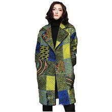 Fashion cloth Coat New 2016 Autumn Winter Loose Woolen cloth Coat Women Tartan Wool Coat Retro Dark Buckle Cashmere Coat A0116