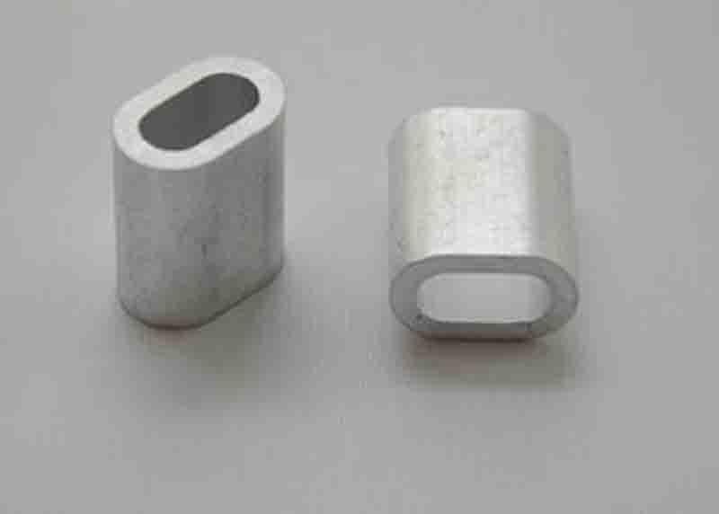 100pcs M2 Aluminum Ferrules Wire Rope Aluminum Ferrules Crimping Sleeve Single Hole Ellipse #A301e(China (Mainland))