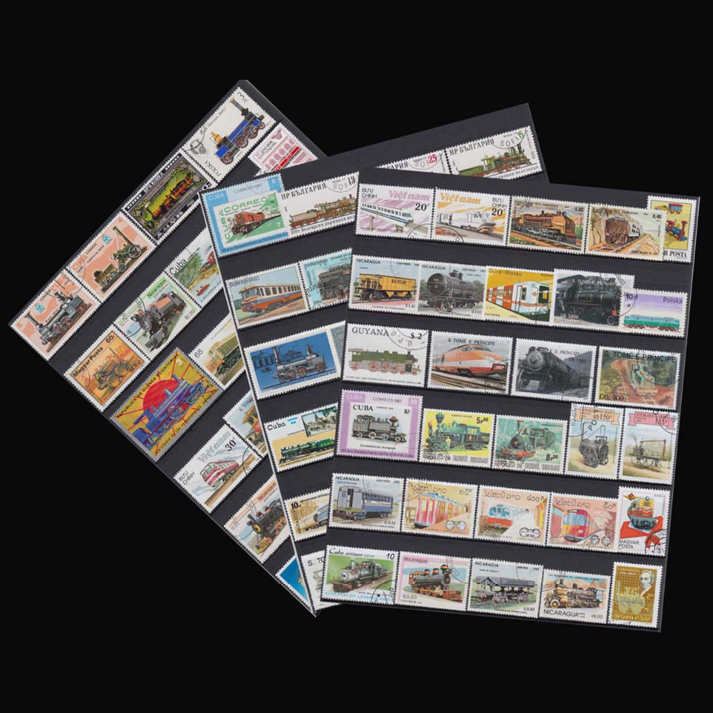 Kinds Of Train , 100 Pieces \ lot wholesale Have Used No Repeat From All World For Collecting Postage Stamps(China (Mainland))