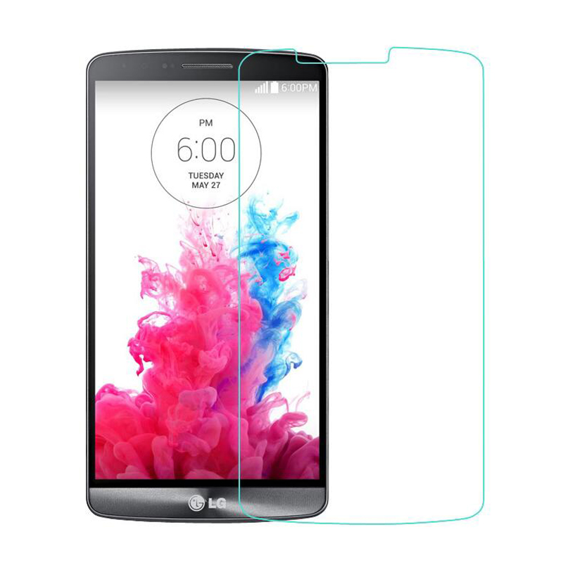 50Pcs 9H 2.5D Tempered Glass Screen Protector Film for LG G Flex D958 G Flex 2 G3 Stylus D690 + Alcohol Cloth + Dust Absorber(China (Mainland))