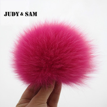 Fluffy Real Fox Fur Pom Pom 16 Colors Fur Ball for Keychain Fur Bag Charm Women Bag Accessories Pompon for Skullies and Beanies(China (Mainland))