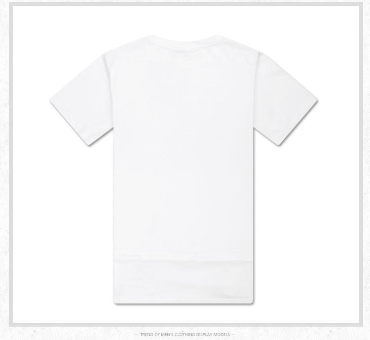 летом 2015 чисто твердых цвета изогнутые все матч свободные короткий рукав футболки мужчин tshirt Привет fshion черный и белый без печати