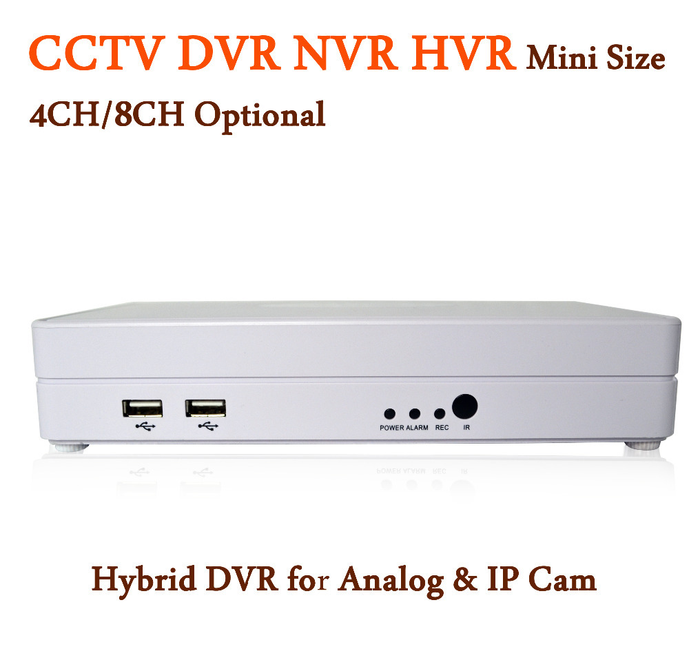 CCTV DVRs 4/8 Channel Optional H.264 Security DVR 4CH/8CH Recorder 960H Full D1 Hybrid IP & Analog Camera Network Recorder(China (Mainland))