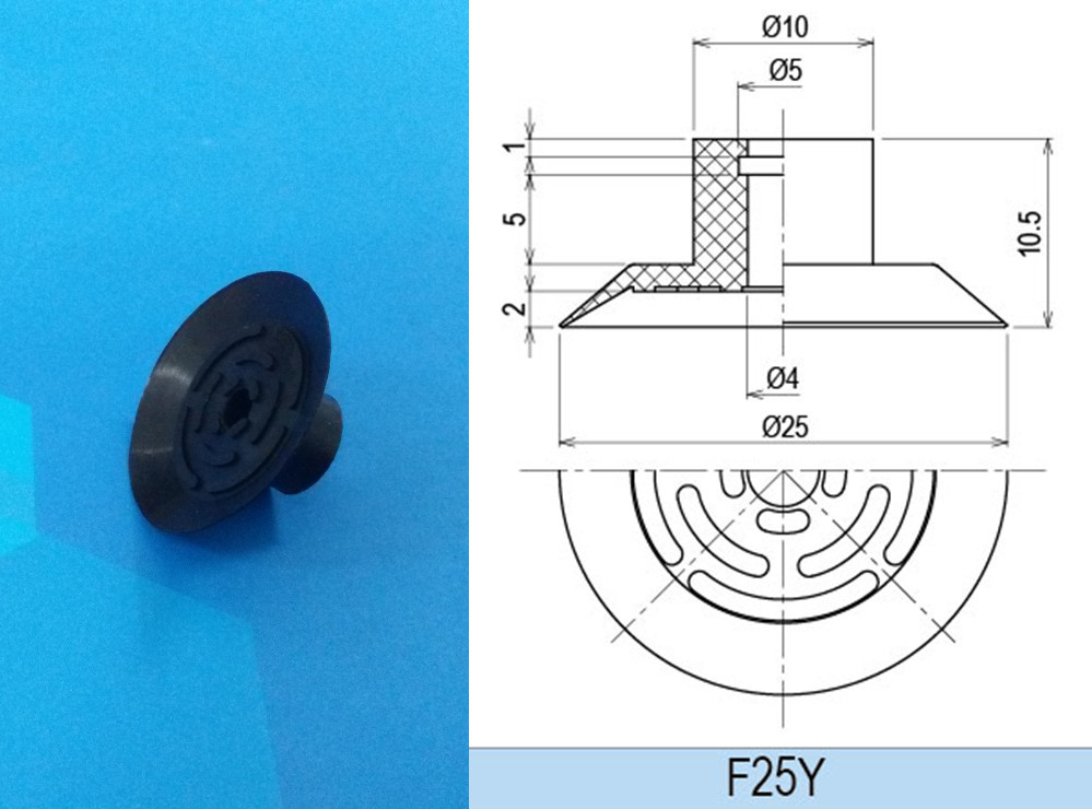 pneumatic parts vacuum suction cups F25Y(China (Mainland))