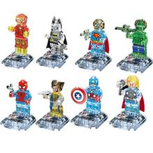 8pcs/lot New movie Super hero Crystal 3-7 years baby toy Building Bloks Sets Model Toys Minifigures Brick Toys legoed Wholesale(China (Mainland))
