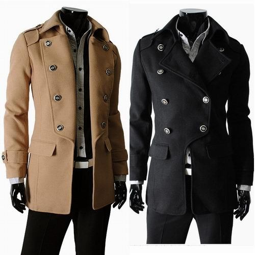 Sale Wool & Blends Brand Men Outerwear Winter Wool Coats & Jackets Casual Thicken Wool Coat Warm Men's Clothing 2016 New Fashion(Hong Kong)