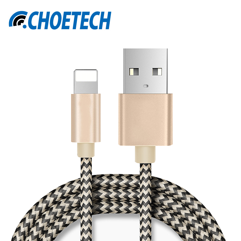 For iPhone Cable,2.1A Fast USB Charger Cable Mini USB Smart Charging Cable for iPhone 7 7 Plus 6S 6Plus 5 5S iPad 4 2 3 Air iPod(China (Mainland))
