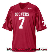 Oklahoma Sooners #7 DeMarco Murray Red College Jerseys with 100% stitched(China (Mainland))