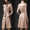 2015 spring khaki red England Double breasted trench coat for women windbreaker female trenchcoat casacos female