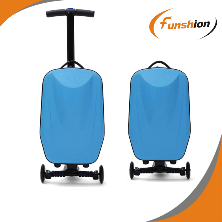 Discount PC material innovative designer luggage skates bag skates suitcase scooter luggage Micro-Luggage Scooter21 inches(China (Mainland))