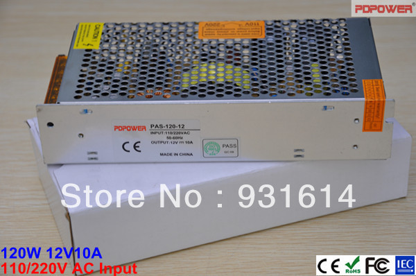 High Reliability & 2-year Warranty! 120W12V10A AC/DC LED driver switching power supply, single output, CE/RoHS/FCC/IEC - PDPower Technology Ltd. store