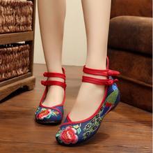 Плюс Размер 41 женская Мода Старый Пекин Мэри Джейн Квартиры Случайные Джинсы Обувь, Китайский Вышитые Ткани Джинсовые Туфли женщина(China (Mainland))