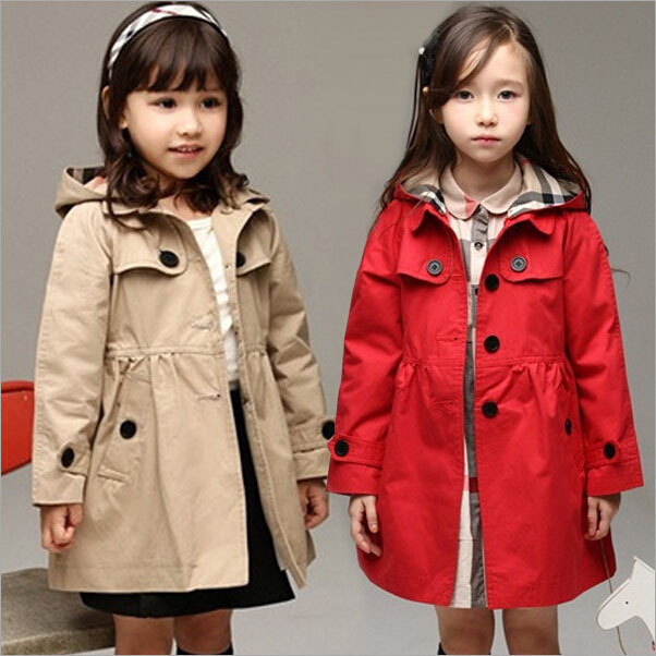 New 2015 Wind Coat Cardigan Jackets for Girls Brand Girls Spring Trend Style Girls Jackets Kids Winter Trench Autumn Coat, YC042(China (Mainland))