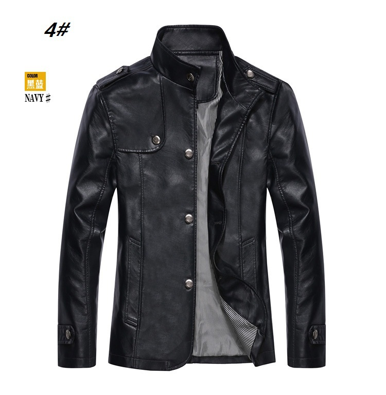 2014 new Motorcycle leather men jacket  men's leather jackets coats plus size S-4XL  leather jackets sheepskin COATS-80310