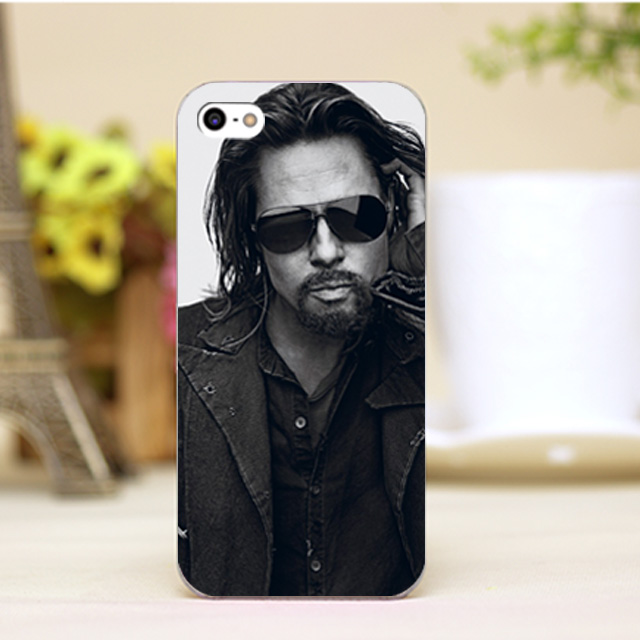 pz0006 1 4 11 Brad Pitt Design Customized font b cellphone b font cases For iphone