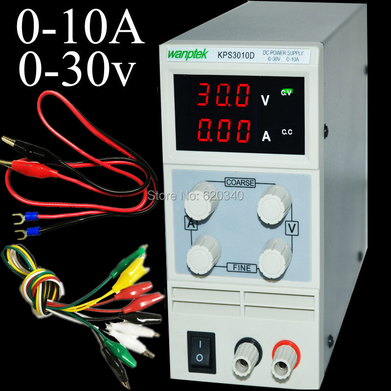 Фотография EU plug New Design Mini Switching Regulated Adjustable Digital DC Power Supply SMPS 30V 10A + Gift