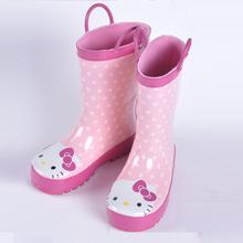 Rain boots kids 2016 Cartoon cat toddler girls boots pVC Cristal Children Winter Warm For Girls waterproof Shoes rain boots girl(China (Mainland))