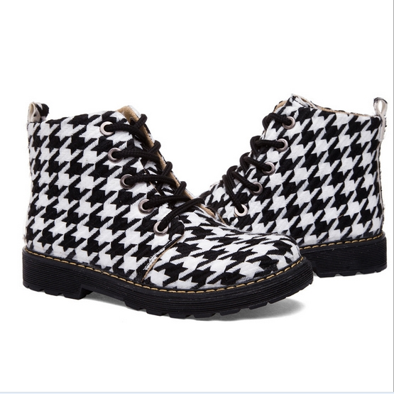 High Quality New Women Canvas Boots European Genuine Leather Winter Boots Snow Boots Fashion Motorcycle Boots,Women Shoes