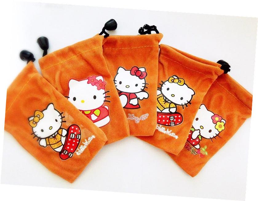 1 orange Hello Kitty Pouch Case Bag Mobile Phone MP3 MP4 - sherry chen(SZ store Electronic Co.,Ltd)
