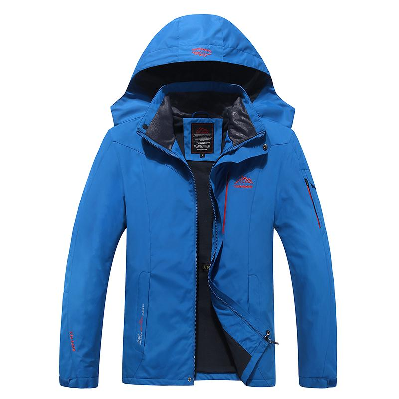 2016 Men Hiking Windproof Jacket Climbing Waterproof Hoodies Windbreaker Zippers Outdoor fishing Coats 8868 - Lifes store
