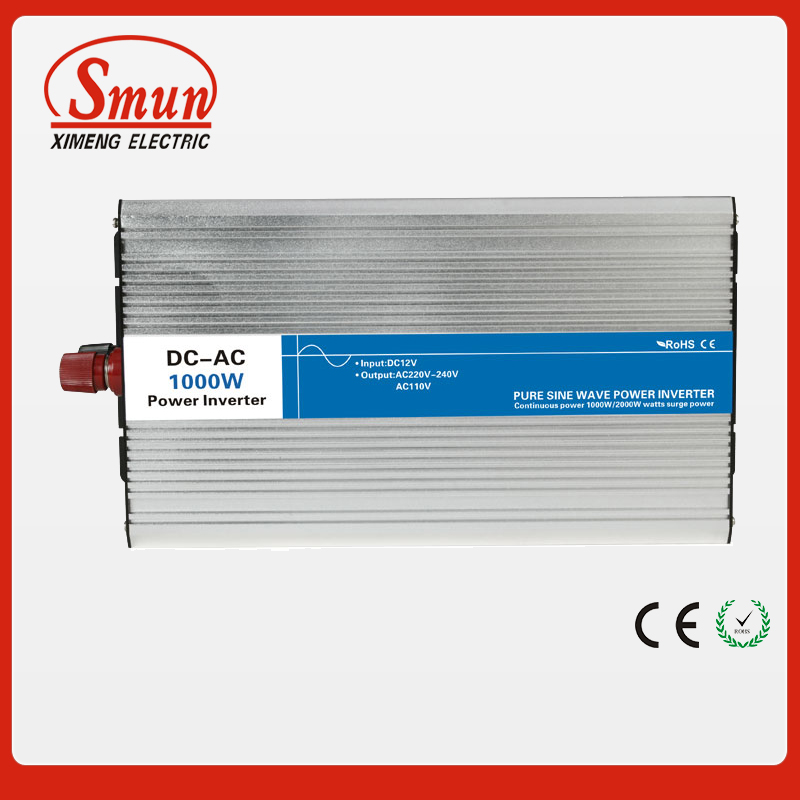 1000W 12VDC to 110VAC pure sine wave inverter with 10A AC charge for solar panel(China (Mainland))