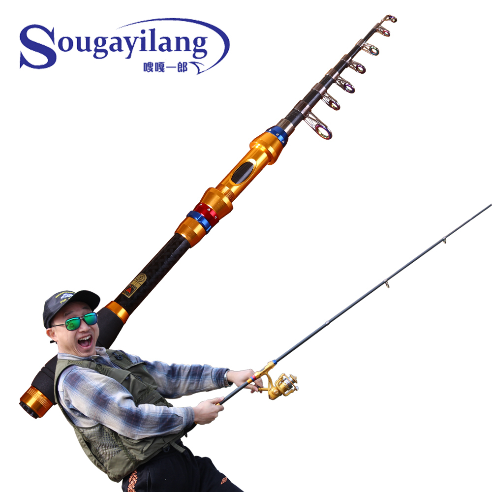 sougayilang high quality telescopic fishing rods portable