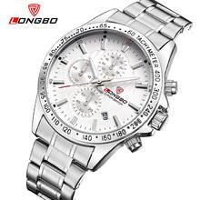 2016 Fashion Luxury Brand LONGBO Stainless Steel Sports Military Analog Quartz Watches Waterproof Wrist Mens Watches 80177