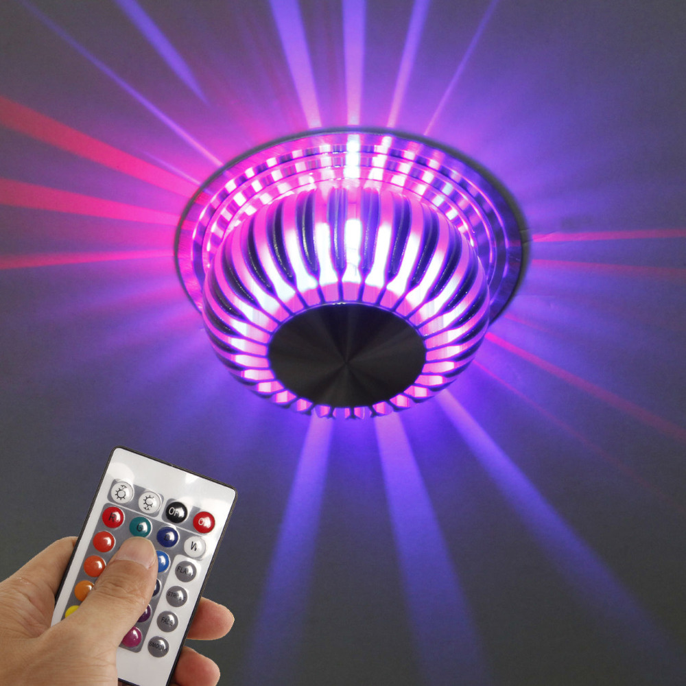 Ceiling lamp LED Color Changing Light + Remote Living Alu ...