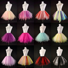 Buy Multicolor Candy Colors Adult Tutu Skirt Stage Dance Clothing Gauze Saia Mini Skirt Performance Faldas Tulle Skirt for $13.20 in AliExpress store