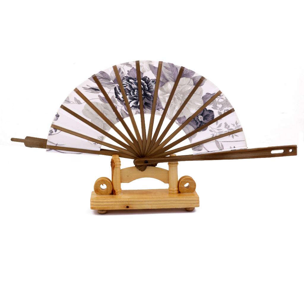 New Hot Sale Japanese Windmill Circle Round Hand Fan Spun Silk Bamboo Flower Folding Fan Free Shipping(China (Mainland))