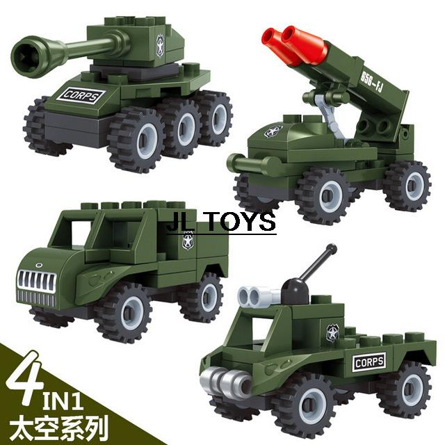 Army Vehicle mini model bricks Military war building block Military jeep tank Armored car compatible with legos for boys toys(China (Mainland))