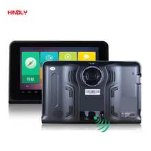 Hindly New 7 inch Android Car GPS Navigation with Rear View Reversing Camera Car dvrs Vehicle Gps WIFI AVIN Navitel/Europe map